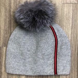 Accessories - Beanie hat with fox Pom Pom